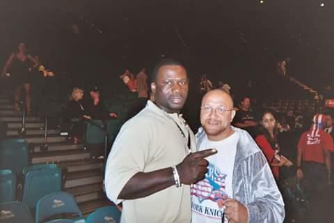 With former heavyweight champion Hasim R