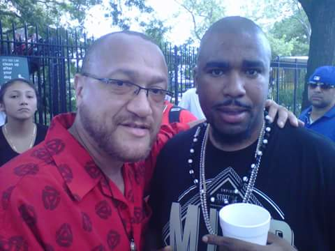 With rapper N.O.R.E.