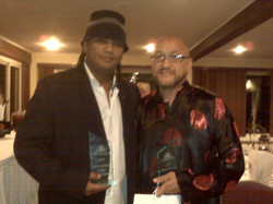 With film director Franc