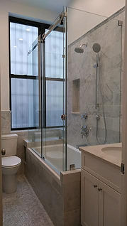 Frameless Sliding Door With Fixed Panel/Panels