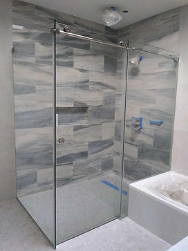 Frameless Sliding Door With Fixed Panel/Panels