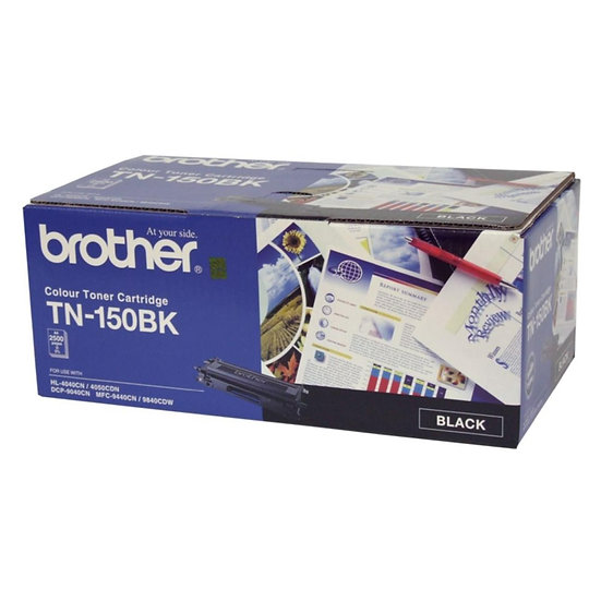 Brother TN-150BK Standard Black Toner Cartridge (2500 pages)