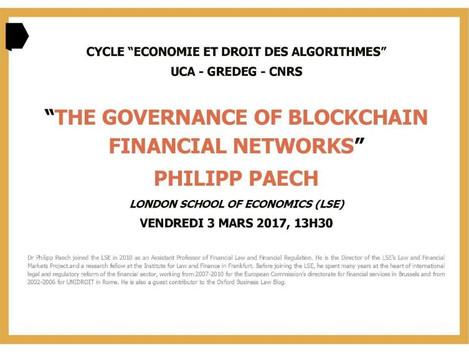 Séminaire sur la gouvernance et la blockchain