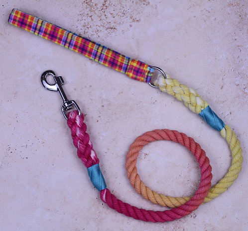Rhubarb & Custard Velvet x Cotton Rope Lead