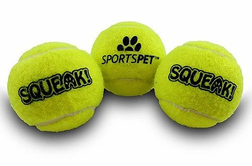 Sportspet Squeak Tennis Balls
