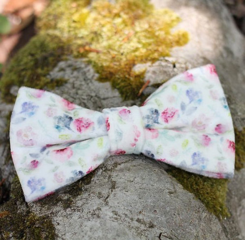Floral Watercolour Bow Tie & Collar Sleeves