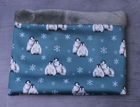 Teal Penguins Cosy Snood