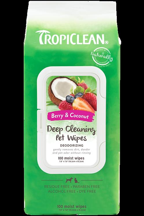 TropiClean Deodorising Wipes