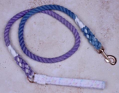 Rainbow Marble Velvet x Cotton Rope Lead