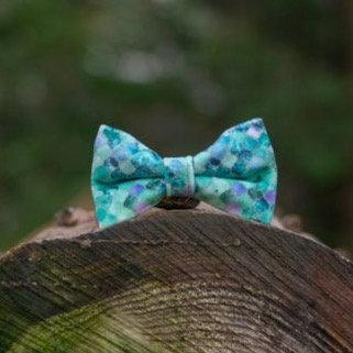 Sea Glass Bow Tie & Collar Sleeves