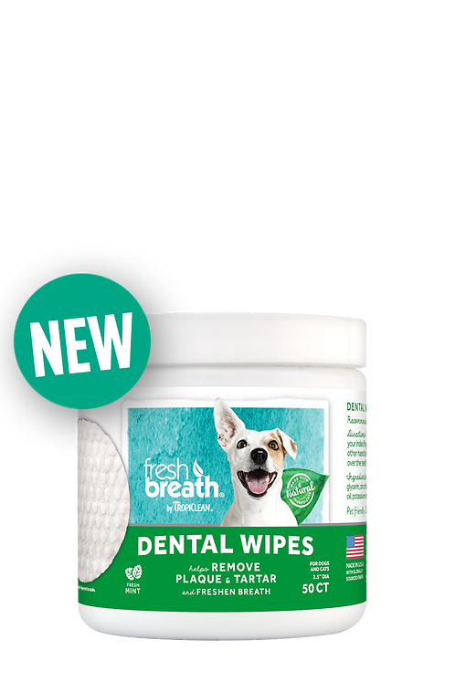 TropiClean Oral Care Dental Wipes