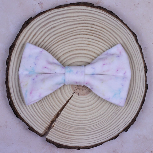 Rainbow Marble Bow Tie & Collar Sleeves