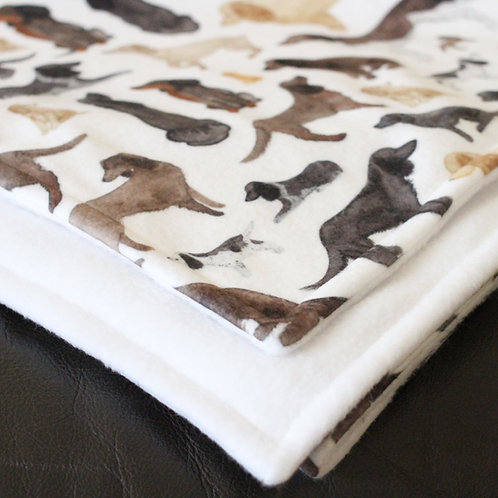 Watercolour Dog Blankets