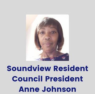 Anne Johnson, Soundview Resident Council