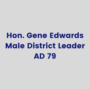 Hon. Gene Edwards, MaleDistrict Leader,