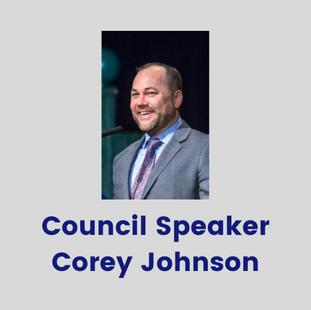 New York City Council Speaker Corey John