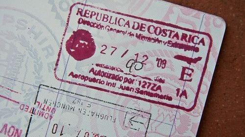 Costa Rica passport stamp