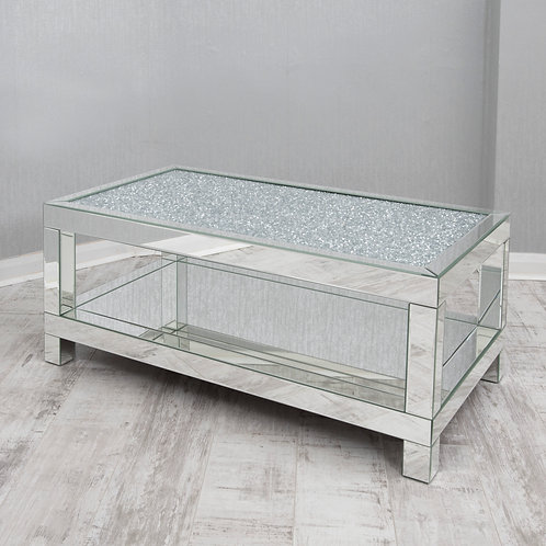 Crushed Glass Mirrored Coffee Table