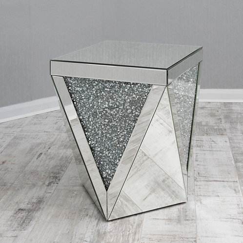 Crushed Glass Mirrored End Table 2