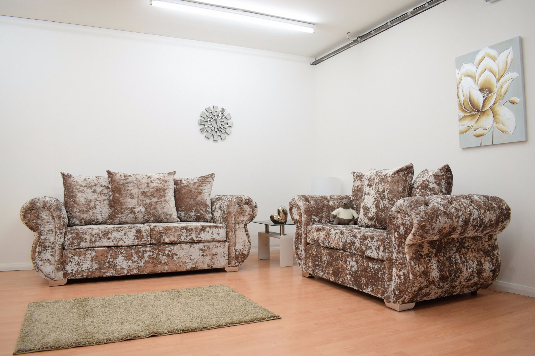 Double Crushed Windsor Sofas