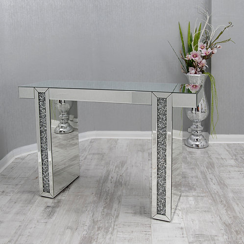 Crushed Glass Mirrored Table