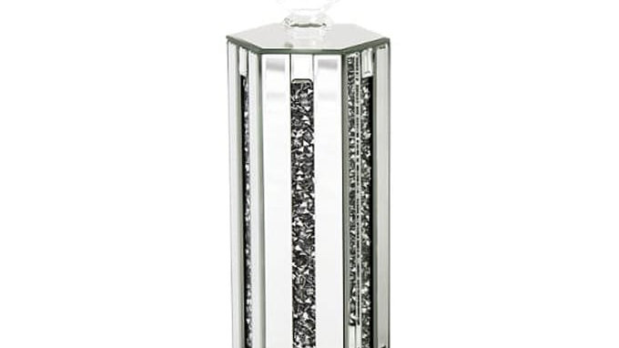 Crushed Glass Mirrored Candle Holder