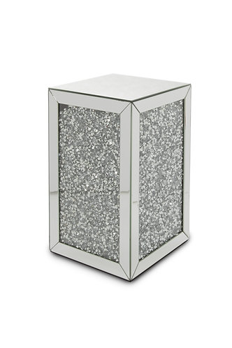 Crushed Glass Mirrored End Table 1