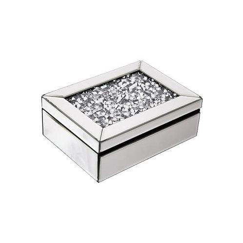 Crushed Glass Mirrored Jewellery Box