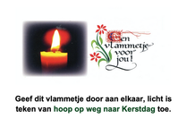 Raamaffiche voor Advent
