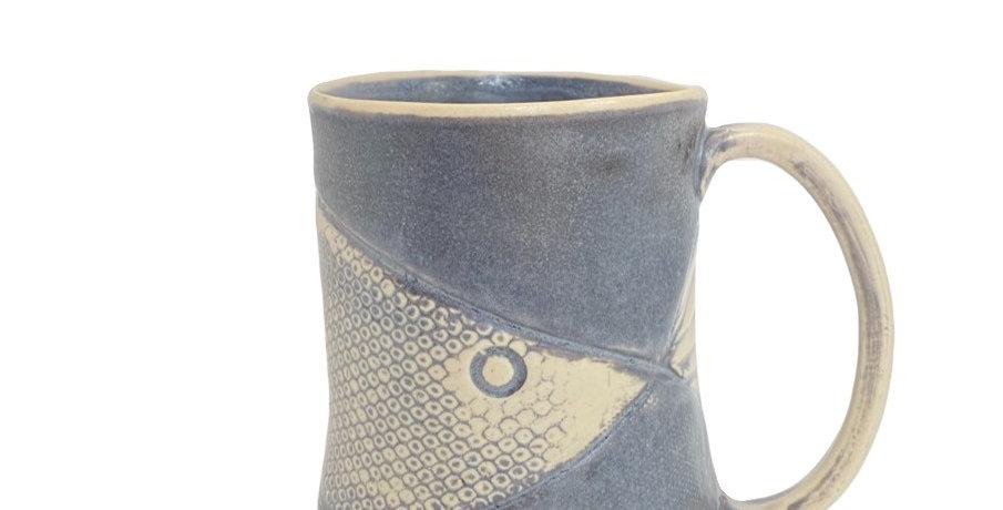 Black fish mug