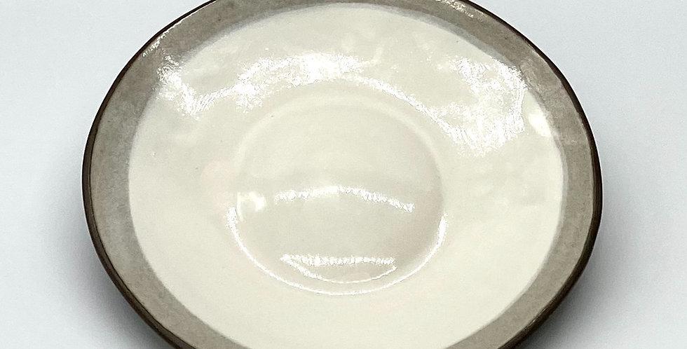 Medium Milky Shallow Bowl