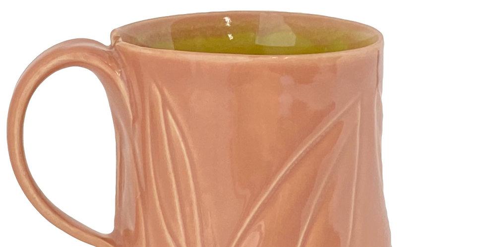 Pink Leaf Mug