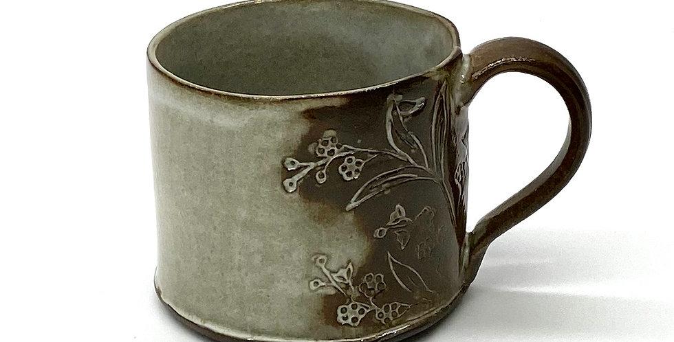 Milky Blue Blossom Shorty Mug