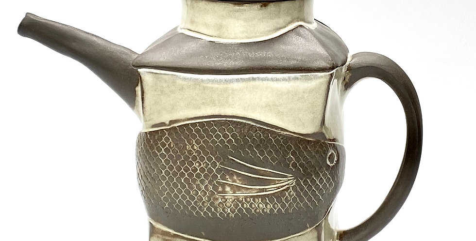 Milky Fishtails Tea/Coffee Pot