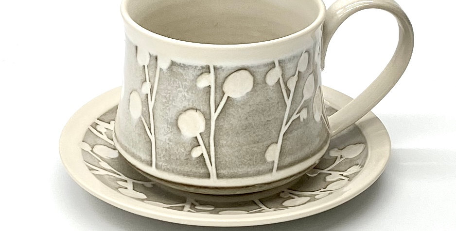 Budded Twig Cup and Saucer