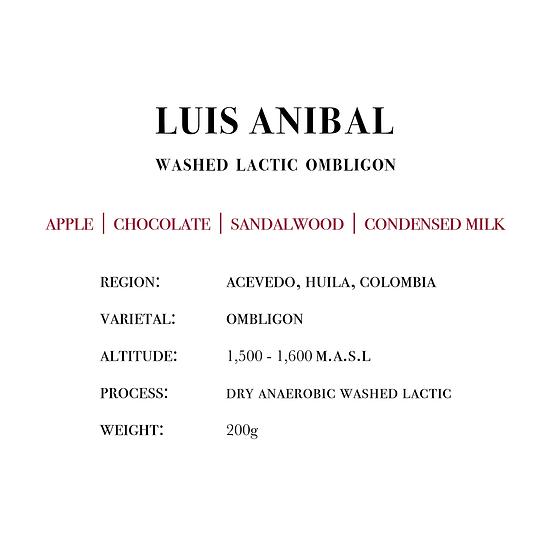 Luis Anibal Washed Lactic Ombligon (Espresso)