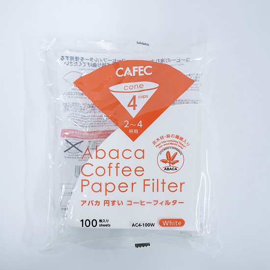 CAFEC Abaca Coffee Paper Filter (Cone-shaped )