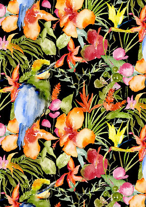 final orange flowers and bird b card.jpg
