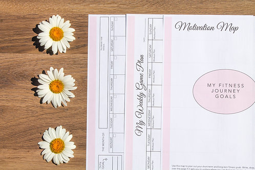 Health and Fitness Planner Pink
