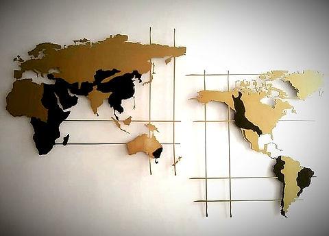 Metal World Map
