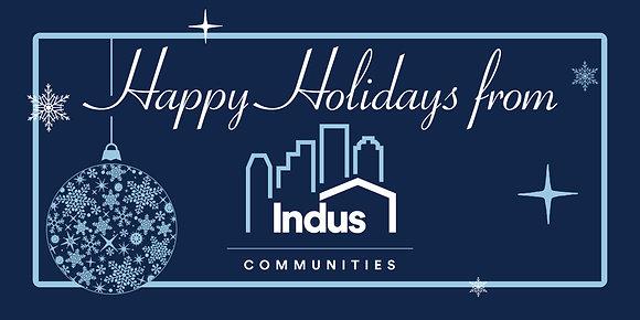 Happy Holidays Indus Communities- Blue