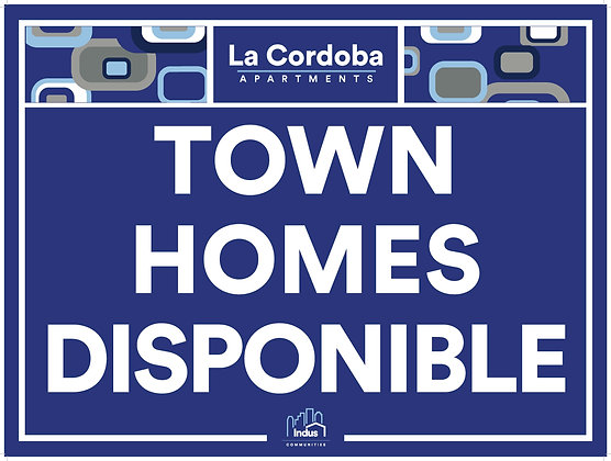 Town Homes Disponible with Property Name