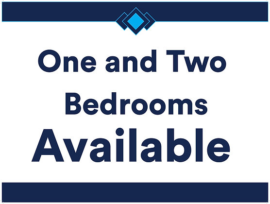 1 & 2 Bedrooms Available