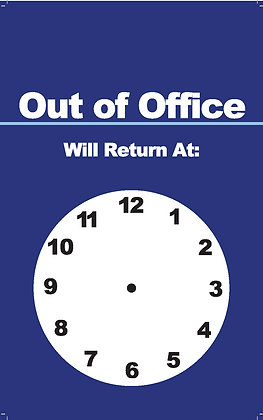 Out of Office Sign- Front & Back