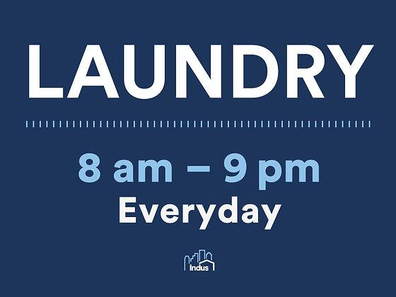 Laundry (8AM-9PM)