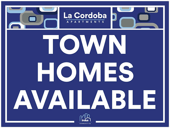 Town Homes Available with Property Name