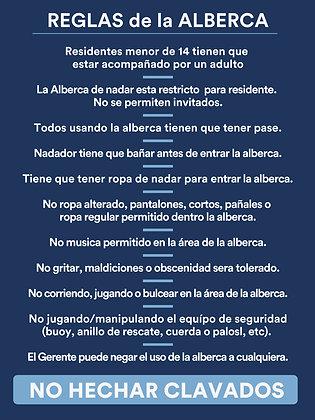 Reglas de la Alberca