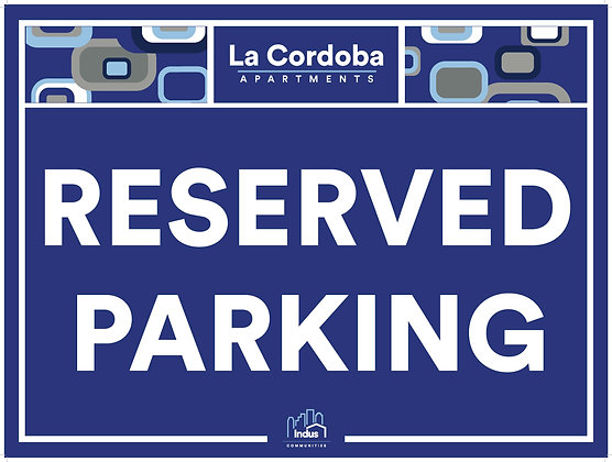 Reserved Parking with Property Name