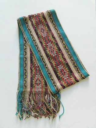 Textile Scarf - Andean Textiles made by Quechua Natives from Peru - Baby Alpaca