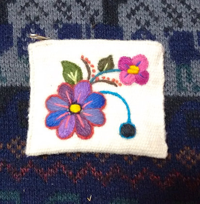 Coin Purse  Andean Floral Design.